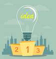 best podium place for inventions vector image