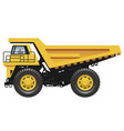 big dump truck isolated on a white background vector image vector image