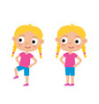 blondy girl in exercise vector image