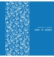 blue white lineart plants vertical frame seamless vector image vector image