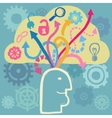 Brain and ideas flow vector image