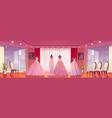 bridal shop interior wedding dresses on mannequins vector image
