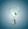 Bulb lamp with green sprout inside vector image vector image