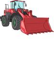 bulldozer v vector image