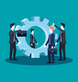 businessmen teamwork group together business vector image