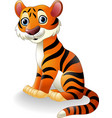 cartoon tiger sitting vector image