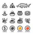carviar icon set vector image