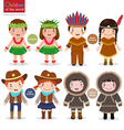 Children of the world USA Hawaiian Native American vector image vector image