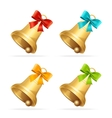 Christmass Bell Set vector image
