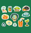 cleaning planet from garbage and recycling vector image
