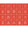 Clothes for men sketch icon set vector image