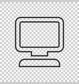 computer in line style monitor flat icon vector image vector image