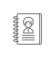 contacts line icon concept contacts linear vector image