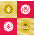 Craft beer and pizza seamless patterns and labels vector image vector image