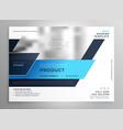 creative blue modern business flyer presentation vector image