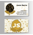 Creative Golden Business Visiting Card with vector image vector image