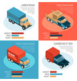delivery isometric design concept vector image