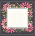 design spring template card with white square vector image vector image
