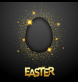 easter black background with confetti egg vector image vector image