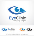 eye clinic logo template design vector image vector image