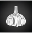 garlic icon vector image vector image