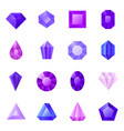 gems icons set vector image