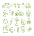 green energy doodle clean environment global vector image