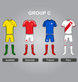 group c team jersey vector image vector image