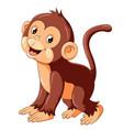 happy monkey cartoon walking vector image vector image