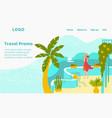 hot tour travel for vacation at summer woman at vector image vector image