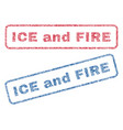ice and fire textile stamps vector image vector image