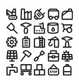 Industrial Icons 10 vector image vector image