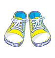 kids sneakers vector image