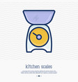 kitchen scales thin line icon vector image