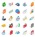 lawyer icons set isometric style vector image