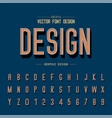line font and alphabet shadow letter typeface vector image