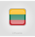 Lithuanian flag button vector image vector image