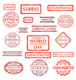 mental disorder stamps set vector image
