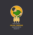 national celiac disease awareness month vector image