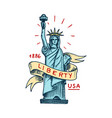 native american symbol statue liberty or vector image