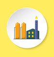natural gas plant icon in flat style on round vector image vector image