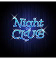 Neon sign Night club vector image