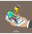 Online education isometric flat concept vector image vector image