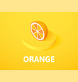 orange isometric icon isolated on color vector image