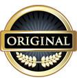 original gold label vector image vector image