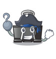 pirate binder clip in the character shape vector image vector image