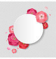 postcard with flowers transparent background vector image vector image