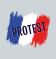protest in the france vector image vector image
