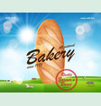 realistic bakery ads banner delicious french vector image vector image
