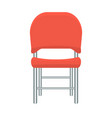 red chair with flat and solid color design vector image vector image